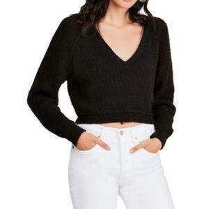 Black Chantelle cropped sweater